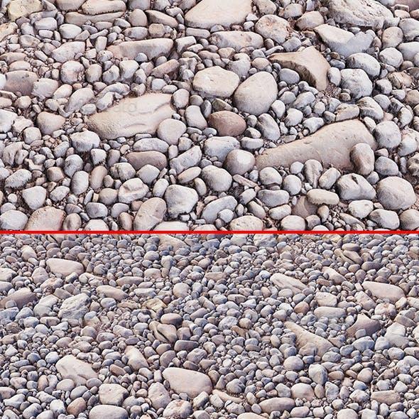 Cobble stone PBR materials Texture Scan data
