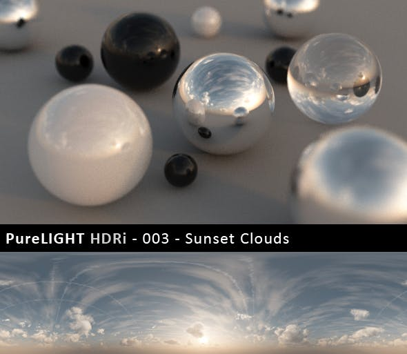 PureLIGHT HDRi 003 - Sunset Clouds - 3DOcean Item for Sale