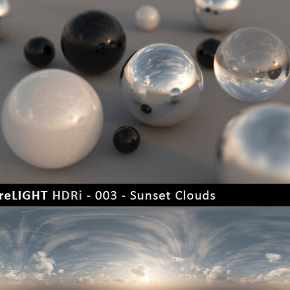 PureLIGHT HDRi 003 - Sunset Clouds