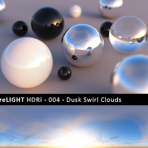 PureLIGHT HDRi 004 - Dusk Swirl Clouds