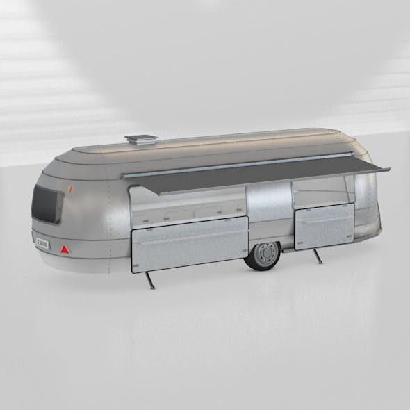 FOOD TRUCK AIRSTREAM TRAVEL TRAILER TRANSPORT TRUCK - 3DOcean Item for Sale