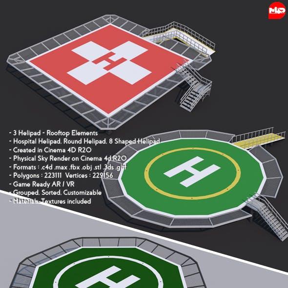 3 Helipad - Rooftop Elements
