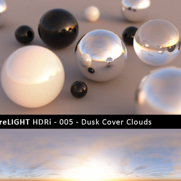 PureLIGHT HDRi 005 - Dusk Cover Clouds