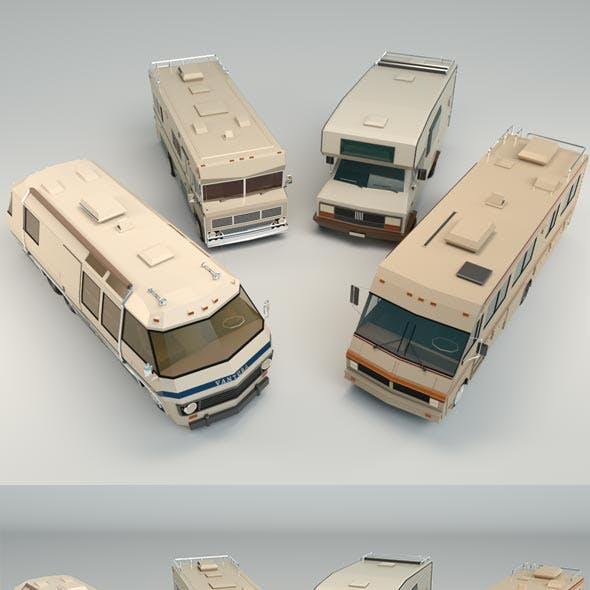 Low Poly Motorhome Pack 01