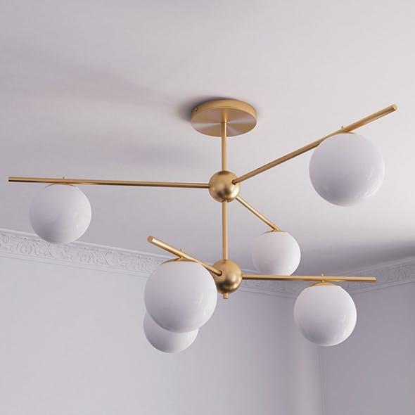 Sphere & Stem 6 Light Semi