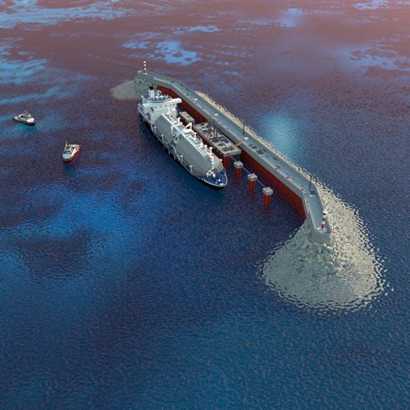 LNG transshipment Сomplex