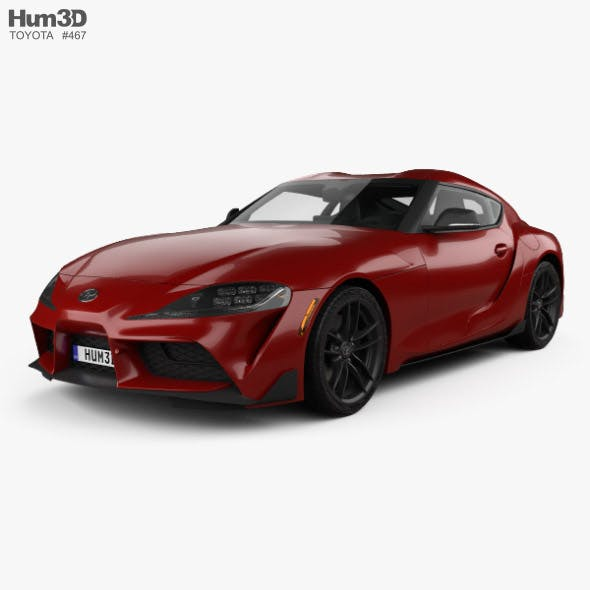 Toyota Supra US-spec with HQ interior 2019