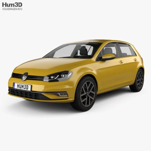 Volkswagen Golf 5-door hatchback with HQ interior 2017 - 3DOcean Item for Sale