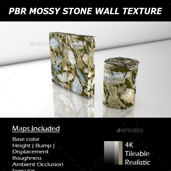 PBR MOSSY STONE WALL TEXTURE.