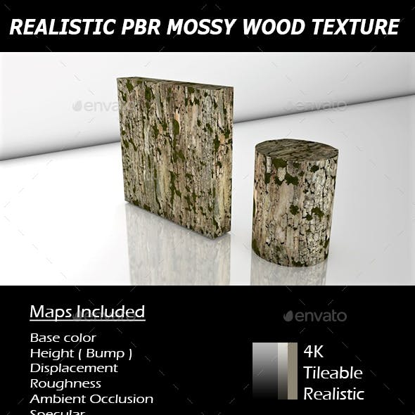 REALISTIC TILEABLE PBR MOSSY WOOD TEXTURE.