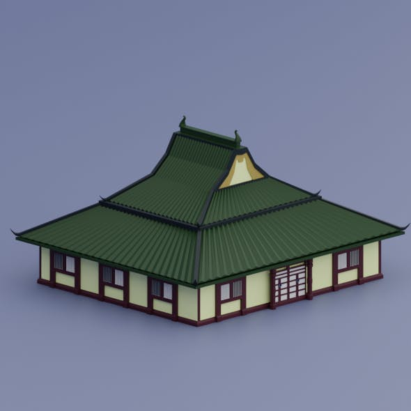 Low Poly old Chinese House
