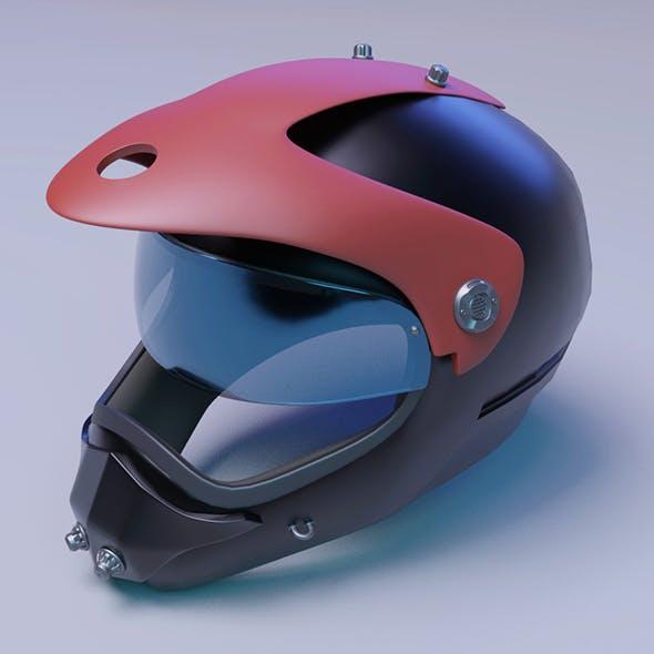 Helmet racer scifi Helmet 3D model 3D model
