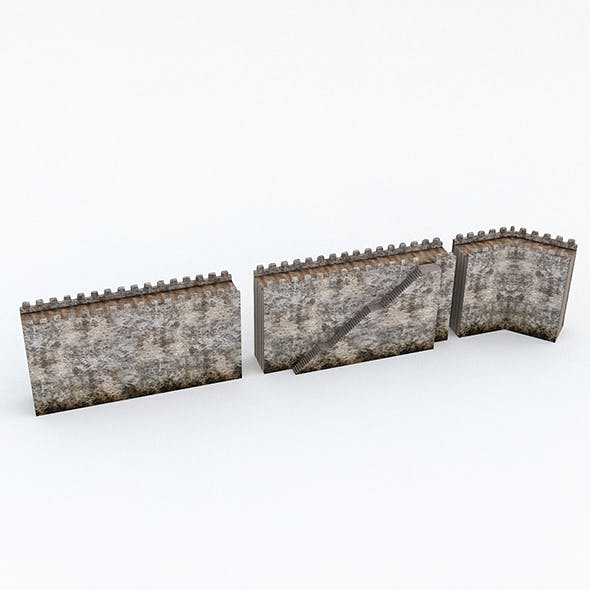 Modular Old Castle Wall