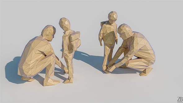 Lowpoly Family 001 - 3DOcean Item for Sale