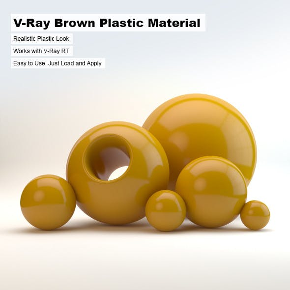 V-Ray Brown Plastic Material