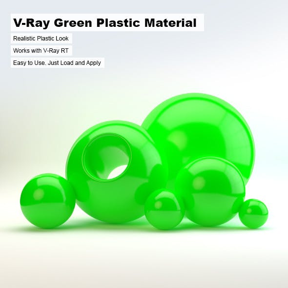 V-Ray Green Plastic Material - 3DOcean Item for Sale