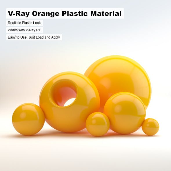 V-Ray Orange Plastic Material