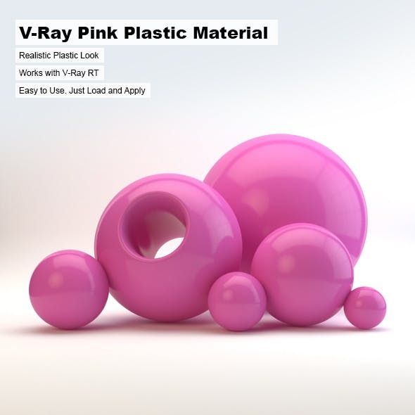 V-Ray Pink Plastic Material