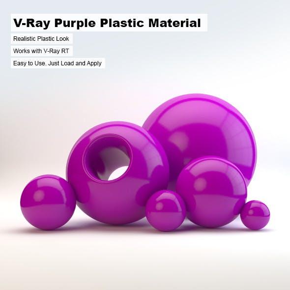 V-Ray Purple Plastic Material