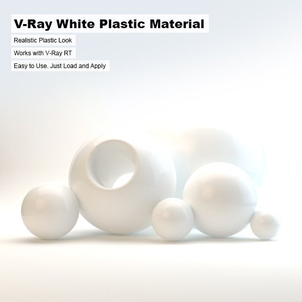 V-Ray White Plastic Material - 3DOcean Item for Sale