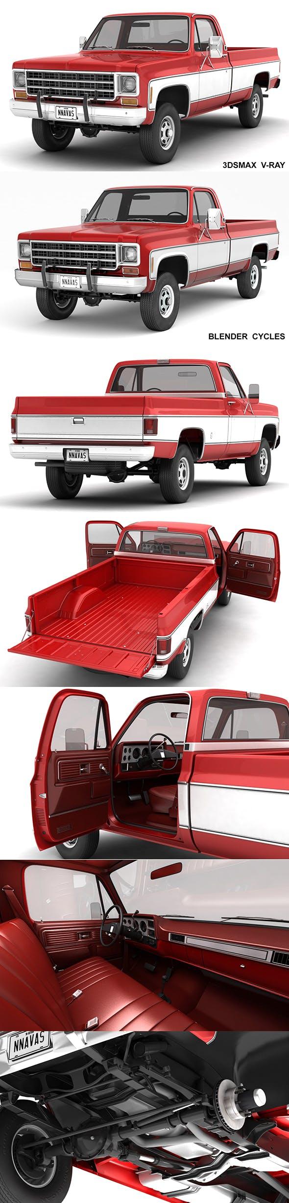GENERIC 4WD PICKUP TRUCK 7 - 3DOcean Item for Sale