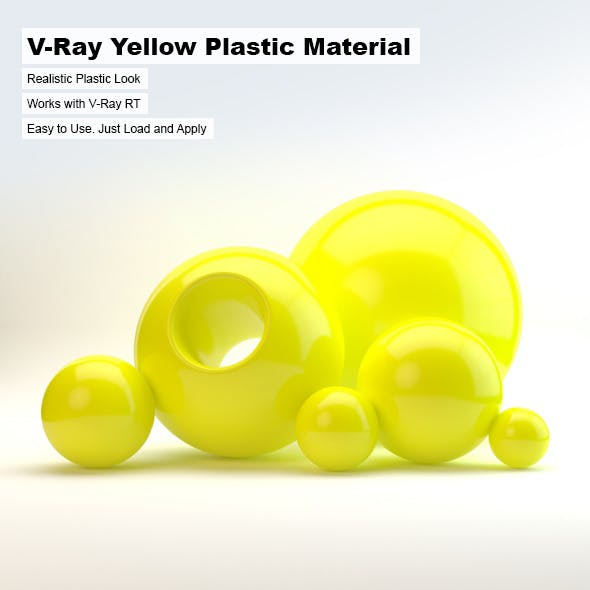 V-Ray Yellow Plastic Material