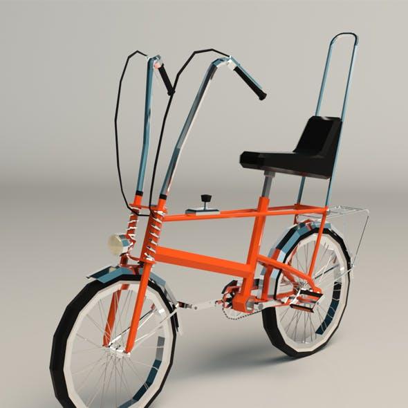 Low Poly Chopper Bike