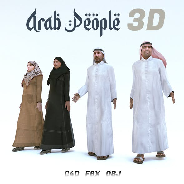 Arab People 3D