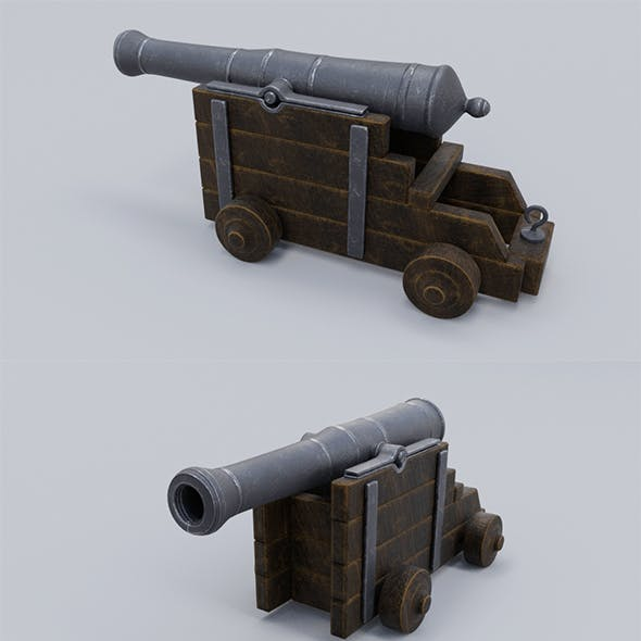 Low polyLow poly Cannon Low-poly 3D model Low-poly 3D mod Cannon Low-poly 3D model Low-poly 3D model