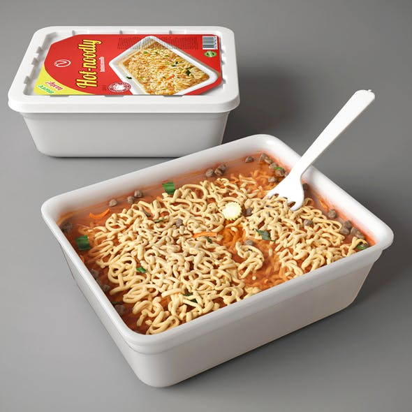 Instant noodle - 3DOcean Item for Sale