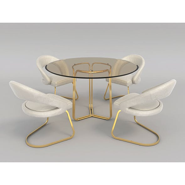 Modern Table and Chair Set 2