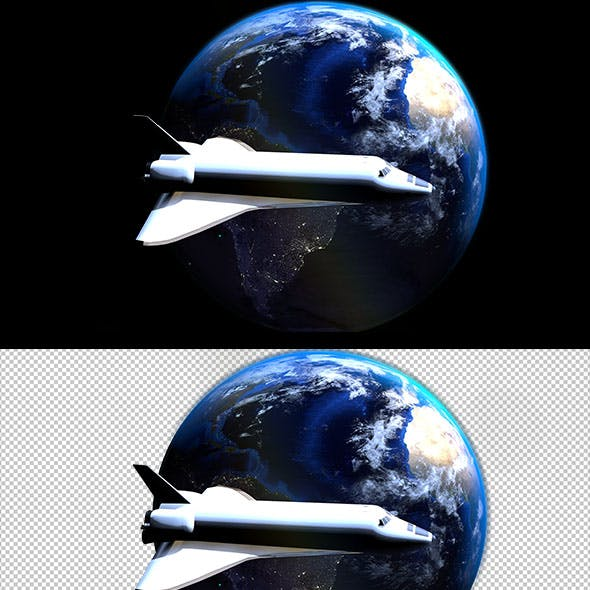 Shuttle around the earth