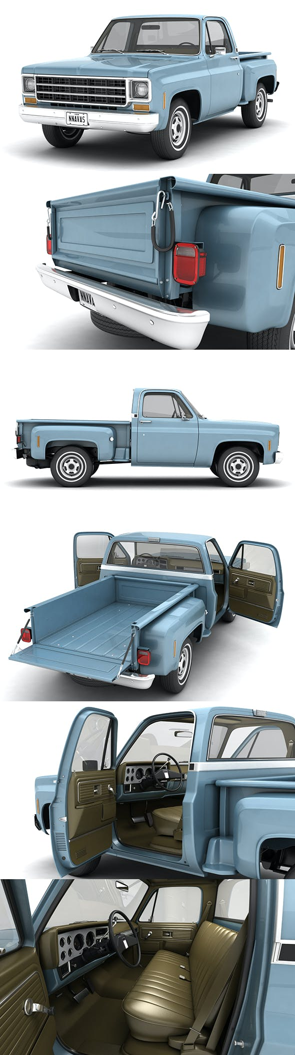 GENERIC STEPSIDE PICKUP TRUCK 10 - 3DOcean Item for Sale