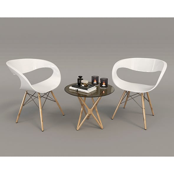 Modern Table and Chair Set 3