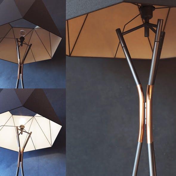 CVL Luminaires Solitaire floor lamp - 3DOcean Item for Sale