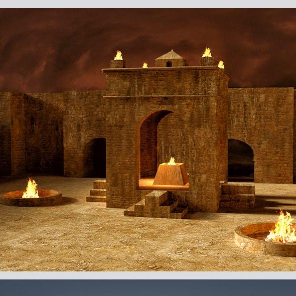 Ateshgah of Baku 3D