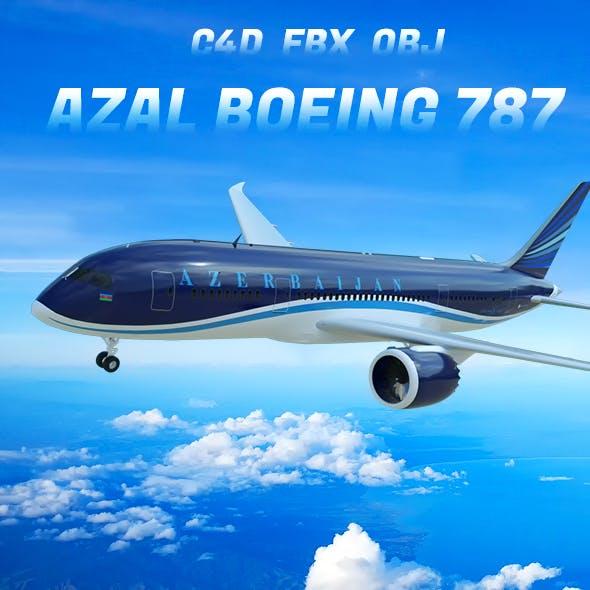 Azal boeing 787 3D