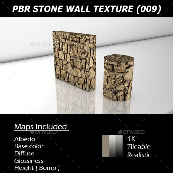 REALISTIC PBR STONE WALL TEXTURE 009.