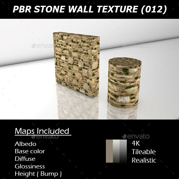 REALISTIC PBR MOSSY STONE WALL TEXTURE 012.