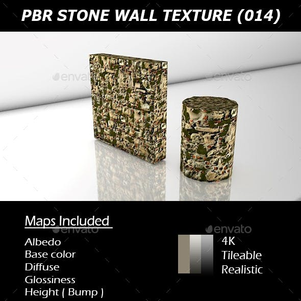 REALISTIC PBR MOSSY STONE WALL TEXTURE 014.