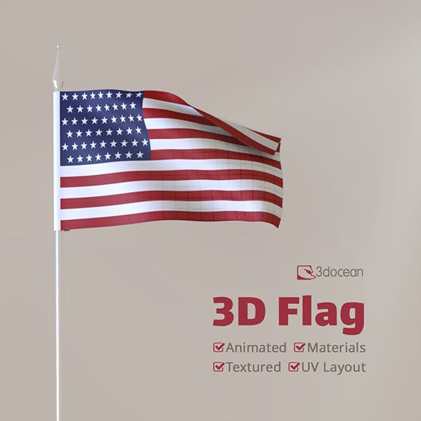 3D Flag (Animated)