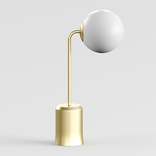 Modern table lamp made of brass and opal glass Laredoute MORICIO