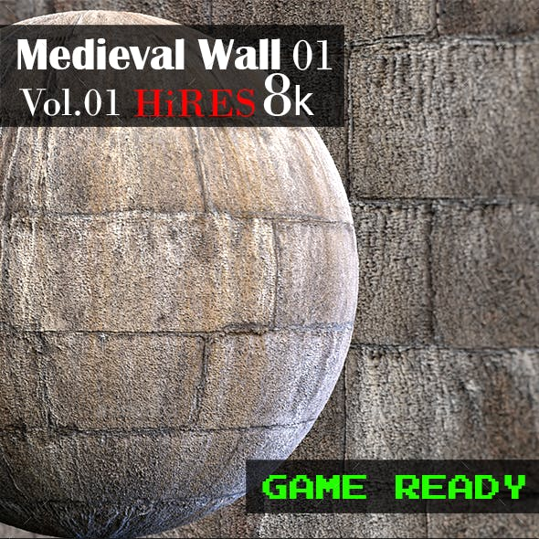 Medieval Wall 01
