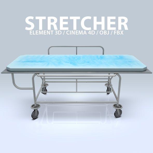 Stretcher 3D Model for Element 3D & Cinema 4D