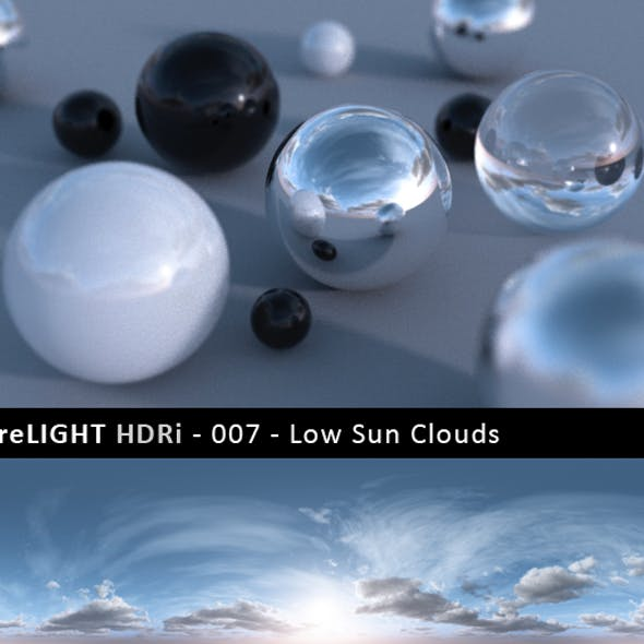 PureLIGHT HDRi 007 - Low Sun Clouds