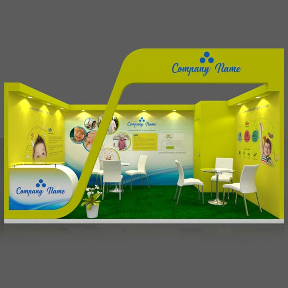 Exhibition Stall 3D Model - 5x3 mtr