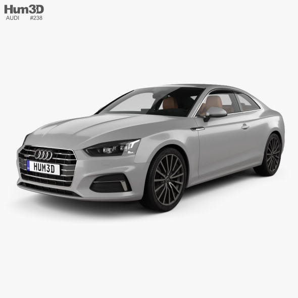 Audi A5 coupe with HQ interior 2016