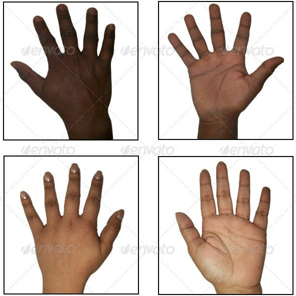 46 Human Hand Texture Pack - 3DOcean Item for Sale
