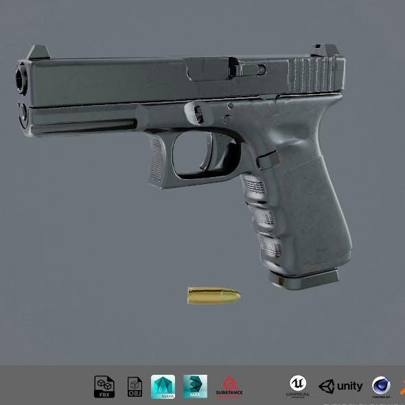 3D model Glock 17 Gen4 gun