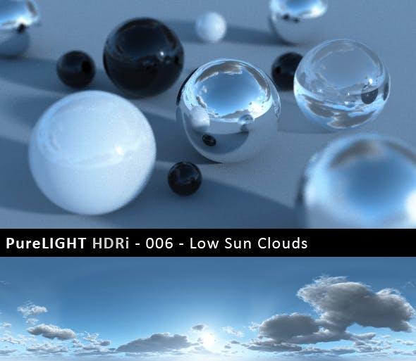 PureLIGHT HDRi 006 - Low Sun Clouds - 3DOcean Item for Sale